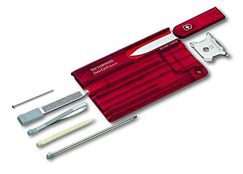 Victorinox Taschenwerkzeug SwissCard QUATTRO Rubin transparent, 0.7200.T