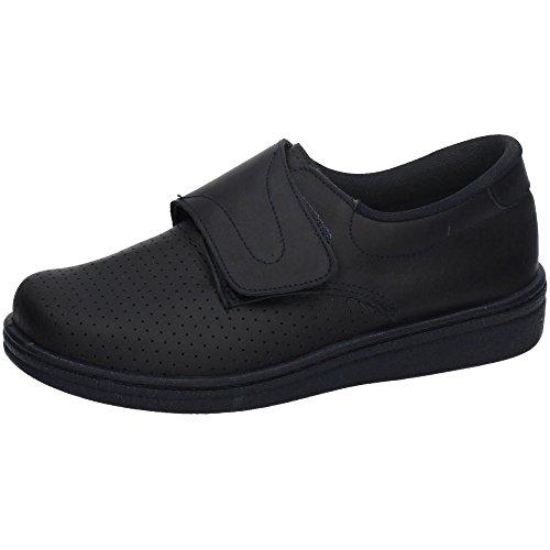 MADE IN SPAIN 293 Zueco DE Piel Velcro Hombre Calzado Trabajo Blanco 42