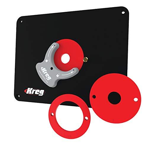 Kreg Tool Präzisions-Frästisch-Einsatzplatte mit Level-Loc Ringen (nicht vorgebohrt) (PRS4038)