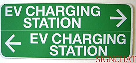 SIGNCHAT Boston T Ev Electric Vehicle Charging Station Sign Aluminum Street Metal Sign 12 x 16 inches