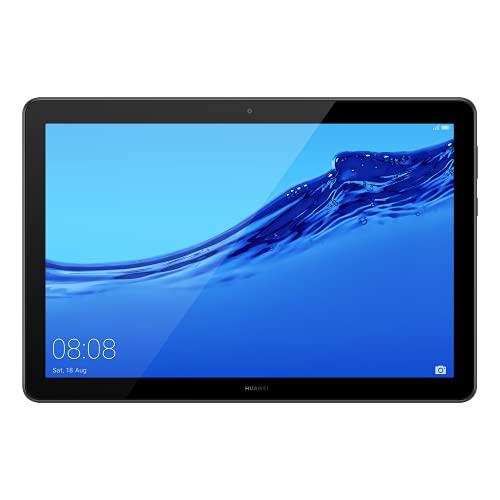 """HUAWEI T5 Mediapad Tablette avec écran de 10,1"""", 32 Go Extensible, 3 Go de RAM, Android 8.0 EMUI 8.0 OS avec Google Mobile Services (GMS), Wi-FI, Noir, Version 2021"""