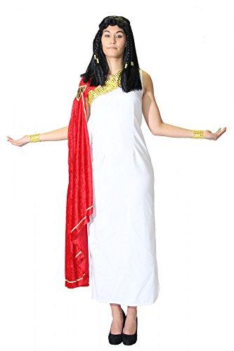 Foxxeo Antike Toga für Damen Römerin Kostüm Griechische Göttin Damenkostüm für Fasching und Karneval Größe XXL