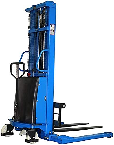 Semi-Electric Straddle Stacker Powered Lift Pallet San Diego Mall Free shipping on posting reviews High