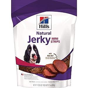 Hill's Beef Jerky Dog Treats, Jerky Mini-Strips Dog Snacks, Healthy Dog Treats, 7.1 oz. Bag
