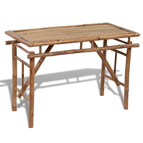Festnight Campingtisch Klapptisch Gartentisch aus Bambus Zusammenklappbar