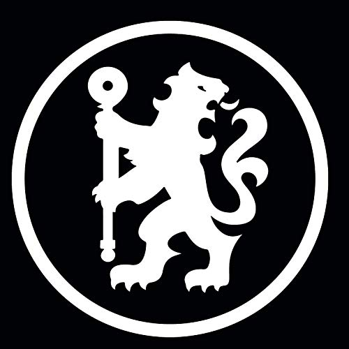 "Chelsea FC Soccer Logo Stickers Symbol 5.5"" Decorative DIE Cut Decal for Cars Tablets LAPTOPS Skateboard - White"
