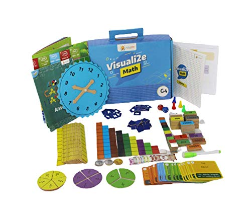 Sparklebox Math Learning Kit for Grade 4 | Age Group 6-10 | 24 Concepts Learning Activities for CBSE /ICSE/State Board