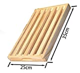 LEYENDAS Bandeja DE Bambu para Corta Pan, Tabla De Corte para Pan (Madera 25x35 cm)