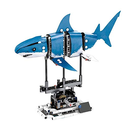 Modbrix Technik Hai Bausteine Fisch Konstruktionsspielzeug, 342 Technik Klemmbausteine