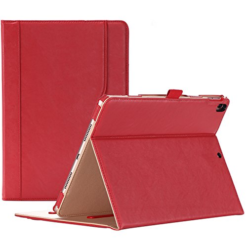 ProCase iPad Air (3rd Gen) 10.5' Case 2019, Vintage Stand Folio Case Cover for Apple iPad Air (3rd Gen) 10.5' 2019 and iPad Pro 10.5 2017, Multiple Viewing Angles, with Apple Pencil Holder - Red