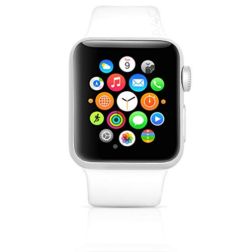 Apple Watch Series 1 (GPS, 38MM) - Silver Aluminum Case with White Sport Band (Renewed) 2