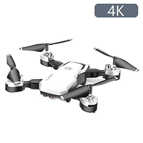 JTWEB Drone con Telecamera,Videocamera HD FPV, 24 Minuti di Volo Quadricottero RC Portatile,modalità Senza Testa a 4 Assi Altitudine One Key Ritorna 360° Flip (Bianco, 4K)