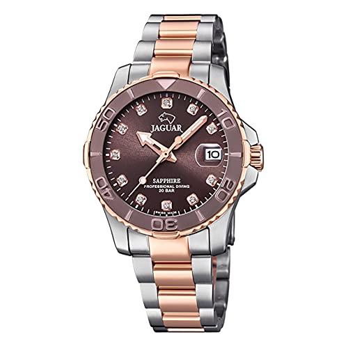JAGUAR Reloj Modelo J871/2 de la colección Woman, Caja de 34 mm Marron con Correa Acero-Bronce para señora