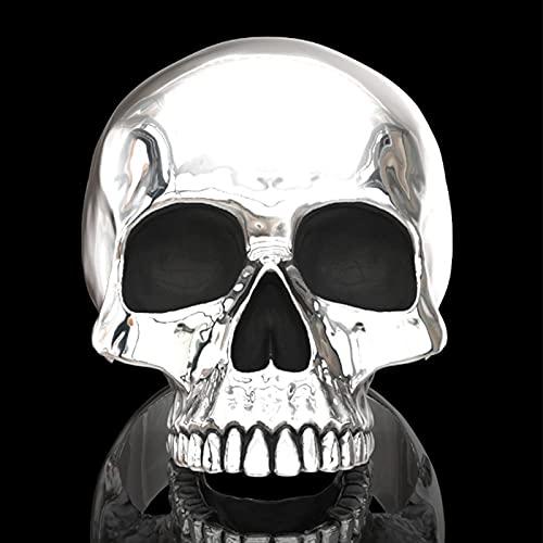 Anillo Gótico Steam Punk De Halloween - Anillo De Horror De Calavera Pulida De 7 Estilos, Diseño De Personalidad, Anillo De Motociclista Unisex Apilable, Regalo De Joyería De Navidad para Hombres Y