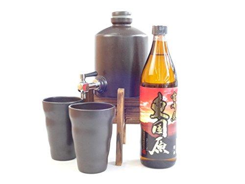 焼酎サーバー豪華セット (神楽酒造 芋焼酎 東国原(ひがしこくばる)720ml )