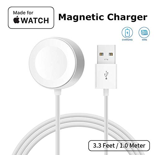 ATETION Watch Charger Pad and iWatch Magnetic USB Charging Cable for Series 1/2/3/4/5/6,Magnetic Charging Cable for Watch …