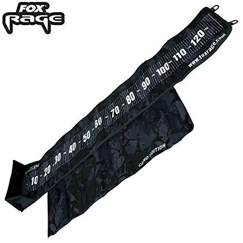 Fox Rage Camo Measure Mat - Maßband für Hecht, Zander & Barsche, Abhakmatte zum Messen von Raubfischen, Fischmaßband für Fische