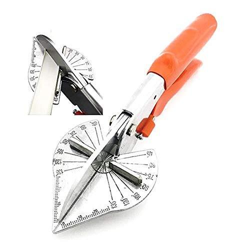 Cortador de inglete multiángulo, herramientas de mano, tijeras de ángulo ajustable de 45 a 135 grados, herramientas de recorte de tijeras