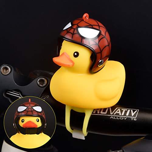 SONGK 1 Uds, Campana de Bicicleta de Dibujos Animados de Silicona con Forma de Pato Amarillo pequeño, Campanas de Bicicleta, Manillar Brillante, luz de Cabeza de Pato, Accesorios de Bicicleta MTB, B
