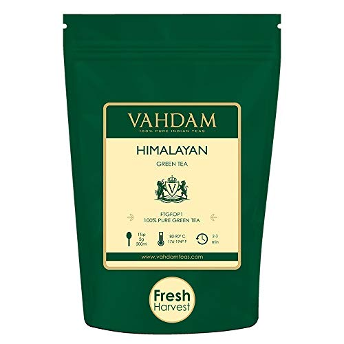 VAHDAM, Green Tea Leaves from Himalayas (50 Cups), 100% Natural Tea, POWERFUL...