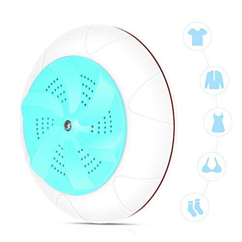 Djflight Wasmachine/droger, 2-in-1 mini-draagbare USB-ultrasone spin wasmachine turbine wasmachine voor reizen en kinderwas cyaan