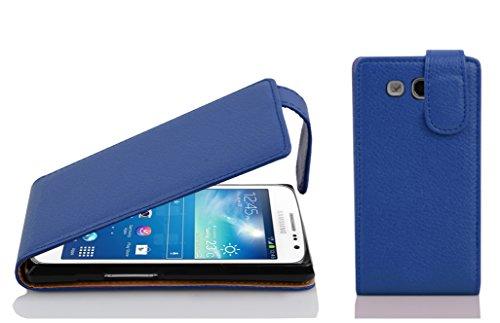 Cadorabo Custodia per Samsung Galaxy Express 2 in Blu Marina - Protezione in Stile Flip di Similpelle Strutturata - Case Cover Wallet Book Etui