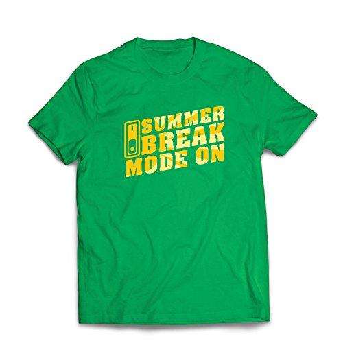 lepni.me Camisetas Hombre Vacaciones de Verano - Modo Encendido, Trajes Vacaciones de Vacaciones, Citas de (XXX-Large Verde Multicolor)