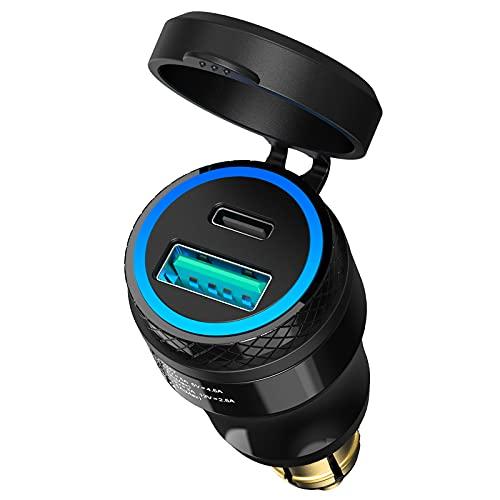 [2021 New] Ouffun Waterproof Powerlet Adapter, DIN Hella Plug to USB C...