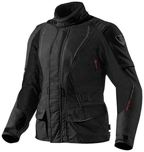 Revit Damen Motorradjacke Monroe, Farbe schwarz, Größe 44