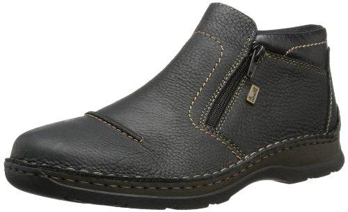 Rieker 05372 Herren Winterstiefel,Winter-Boots,Fellboots,Lammfellstiefel,Fellstiefel,gefüttert,warm,schwarz,43 EU
