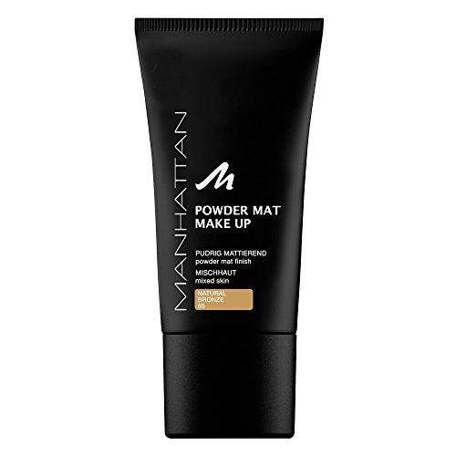 Manhattan Powder Mat Make Up, Puder und Foundation in einem, Farbe 85, Natural Bronze, 1er Pack (1 x 30 ml)
