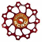 KCNC- Engranaje para piñón de bicicleta ultraligero 11T para Shimano, Campagnolo, SRAM, etc. Color rojo. 1 unidad.