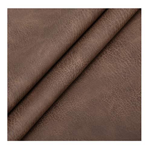 ZHANGAIZHEN Tela De Cuero De Cuero Artificial De PU para Decoración Cojines De Artesanía O Artículos De Cubierta Sofá Tejido DIY Materiales Hechos A Mano Rojos(Size:100cmx138cm,Color:marrón)