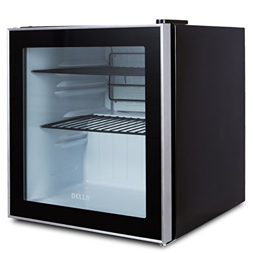 DELLA 048-GM-48314 Beverage Center Compact Built-In Cooler Mini Refrigerator, Reversible Door -Black