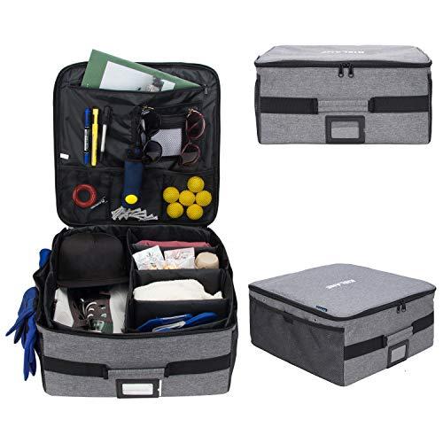 KISLANE Golf Trunk Organizers Storage, Golf Gear Locker for Car or Truck, Golf Supplies Trunk Organizer (Bag ONLY) (Grey)