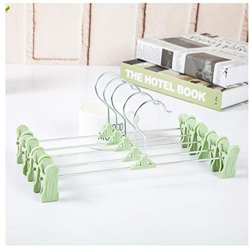 Zhaoyangeng 5 stuks baby kledinghangers voor kleding groene kledinghangers wasrek mantel rok jurk blouse metaal kledinghanger haken Cabiden opslagrek 27 * 9 * 5 cm