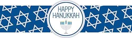 Hanukkah Napkin Ring - Blue Star (Set of 12)
