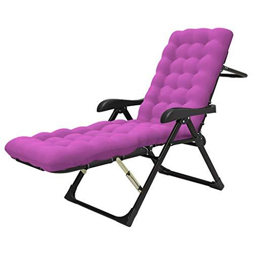 ZHJYD Liege Camping Kinderbett Sonnenliege Lehnstühle Folding Dienstprogramm Einstellbare Liegesitz Voll Padded Angeln Bett im Freien Gartenstuhl Unterstützt 200kg (Color : Purple)