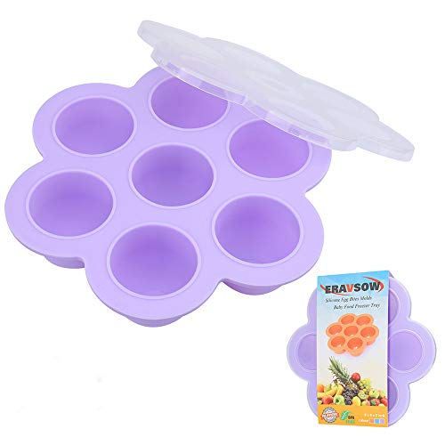 Sale!! ERAVSOW Silicone Egg Bites Molds,Food Freezer Storage Tray with Lid for Baby Food and More,BP...