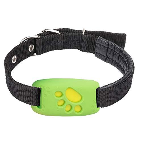 Rastreador GPS para perros, gatos, rastreador de GPS con alcance ilimitado, monitor de actividad, dispositivo de seguimiento impermeable, monitor antipérdida, localizador de posición GPS (verde)