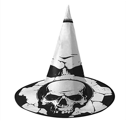 Sombreros de Halloween Dark Horned Demon Skull Kid Wizard Hat Sombrero de bruja de Halloween para decoración de fiesta Accesorio de disfraz de Cosplay Cumpleaños de Navidad para mujeres Accesorios de