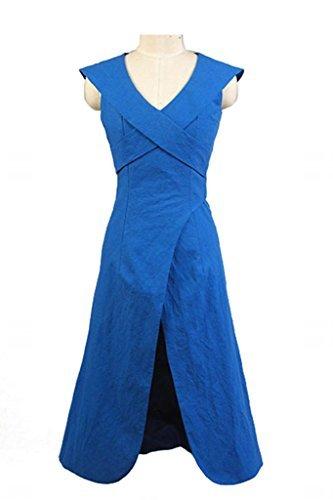Fuman Game of Thrones Daenerys Targaryen Mother of Dragons Kleid Cosplay Kostüm Blau S