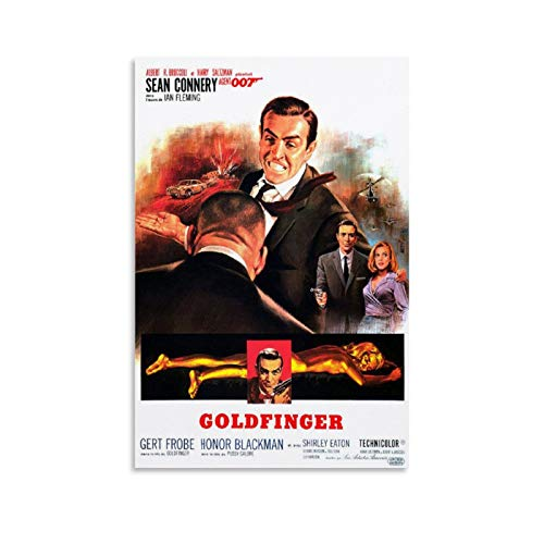 James Bond 007 Goldfinger Movie Poster Poster Decorative Painting Canvas Wall Art Living Room Decor Posters Bedroom Painting 24x36inch(60x90cm)