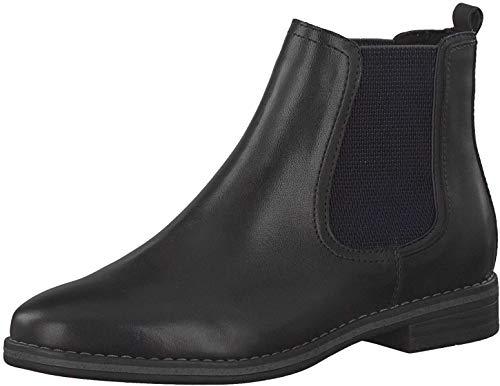 MARCO TOZZI Damen 2-2-25340-25 Leder Boot Chelsea-Stiefel, DK.Grey A.Comb, 38 EU