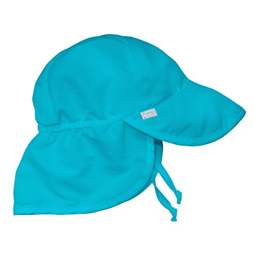 i play. Baby Flap Sun Protection Swim Hat, Aqua, 9/18mo