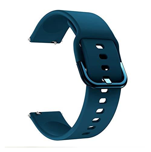 LYB Correa de silicona suave para reloj inteligente Polar Ignite pulsera deportiva para Polar Vantage M/Grit X correa de muñeca accesorios (color verde oscuro, tamaño: 20 mm para encendido)