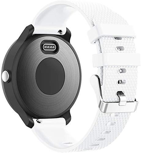 NeatCase Repuesto de Correa de Reloj de Silicona Compatible con TicWatch Pro/Pro 4G LTE / S2 / E2, Caucho Fácil de Abrochar para Relojes y Smartwatch (22mm, Blanco)