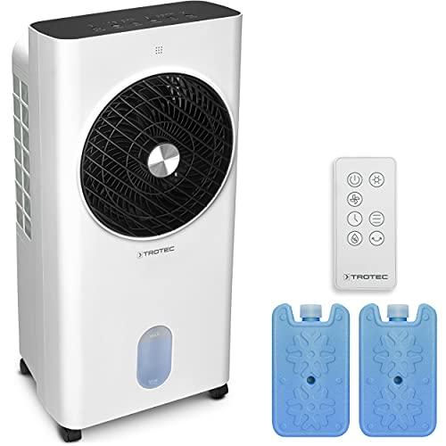 TROTEC Climatizador Aircooler PAE 31 Enfriador de aire 4 en 1: Refrigerador, Ventilador, Ambiemtador, Humidificador, Habitaciones 26 m² o 65 m³, 3 Niveles, 1.000 m³/h, Capacidad: 6 L