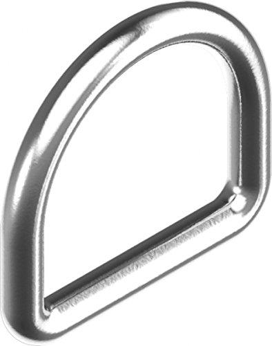 Arbo-Inox 2 x D-Ring Edelstahl geschweißt poliert A4 rostfrei Größe 4x30mm