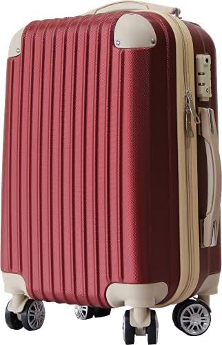 スーツケース ダイヤルロック ダブルキャスター BASILO-019(ワインレッド s)